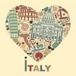 I love Italy — Stock Vector #48376747