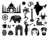 Icons of India — Stock Vector