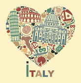 I love Italy — Stock Vector