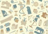 Fondo de costura y costura — Vector de stock