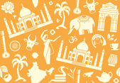 Seamless background on a theme of India — Vector de stock