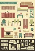 Furniture & interior icons — Stock Vector