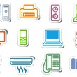 Icons of office equipment — Stock Vector #9529777