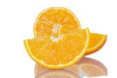 Ripe orange slices — Stock Photo