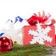 Christmas gift and baubles — Stock Photo #15934637