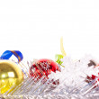 Christmas gift and baubles — Stock Photo #15936017