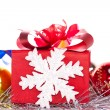 Christmas gift and baubles — Stock Photo #15936983