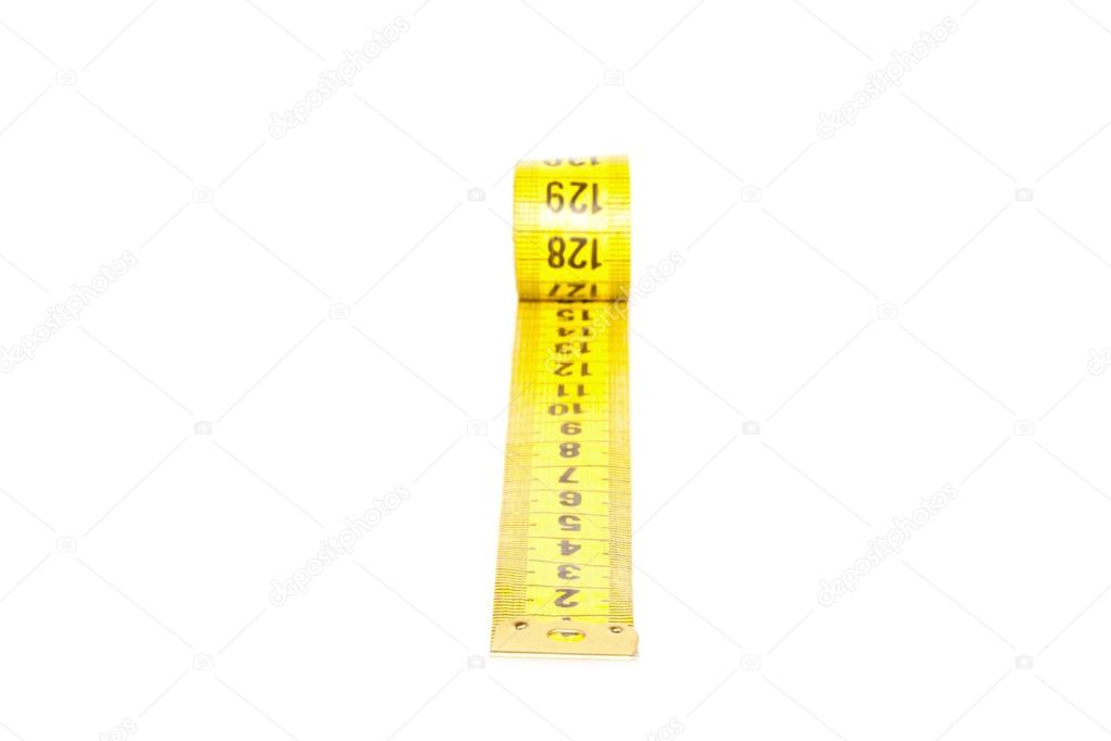 Measuring tape of the tailor isolated on white background — Stock Photo #16927101