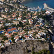 Aerial view of residental district of Calpe - Stock Photo