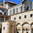 Stockfoto: Inside yard of Convent of Burgos, Spain