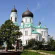 Stock Photo: White Church in Lomonosov