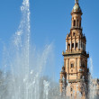 Fountain of Plaza de Espana in Seville, Spain - Stockfoto