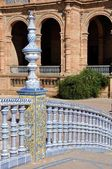 Bridge of Plaza de Espana in Seville, Spain — Stock Photo