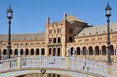 Bridge of Plaza de Espana in Seville, Spain — Stock Photo