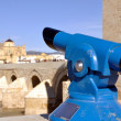 Tourist telescope in Cordoba, Spain. - Stock Photo