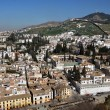 Aerial view of Granada from Ahambra Palace - Stock Photo