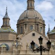 Cathedral The Pilar in Zaragoza, Spain - Stock Photo