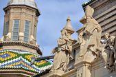 Cathedral The Pilar in Zaragoza, Spain — Zdjęcie stockowe