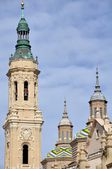 Kathedrale der pilar in zaragoza, spanien — Stockfoto