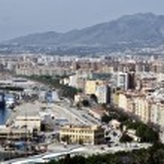 Aerial view of Malaga, Spain — Stock Photo