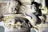 Columns of Las Duenas Convent, Salamanca — Stock Photo
