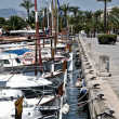 Yachts at the port - Stock Photo