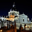 The Almudena cathedral in Madrid, Spain — ストック写真