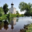 图库照片: Church of Intercession on Nerl River Golden Ring Russia