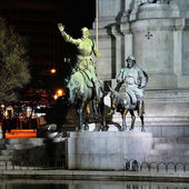 Statue of Don Quijote in Madrid, Spain — Stock Photo