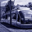 Stock Photo: Tramway in Bilbao, Spain