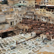 Stock Photo: Leather tanneries in Fes, Morocco