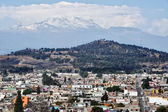 Aerial view of Volcano in Cholula — Stock Photo
