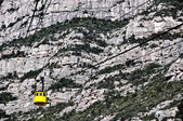 Cable car to Montserrat Mountain — Stock Photo