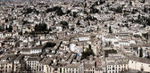 Panoramic view of Granada from Ahambra Palace — Stock Photo