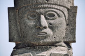 Tula, Meksika tolteca heykeli — Stok fotoğraf