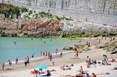 Beach in La Coruna, Spain — Stok fotoğraf