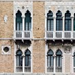 Facade of a building in Venice — Stock Photo