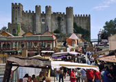Medieval Market in Obidos, Portugal — Stock Photo