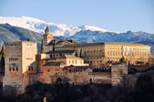 Aerial view of Alhambra Palace in Granada — Stock Photo