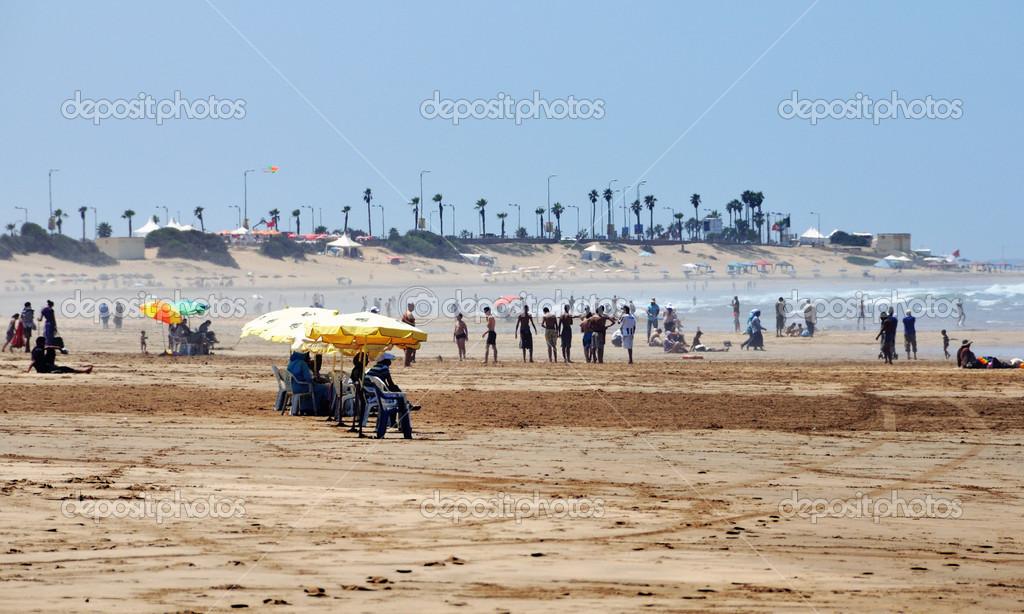 Praia em casablanca marrocos fotografias de stock for Paginas de nudismo