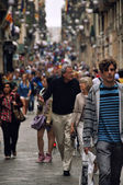 Street of old part of Barcelona — Stock Photo