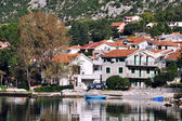 View of small town in Montenegro in Autumn — Stok fotoğraf