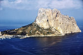 Aerial view of famous rock Penon de Ifach in Costa Blanca — Stok fotoğraf