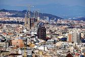 Aerial view of Barcelona (Sagrada Familia) — Stock Photo