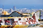 Park guell, barcelona, španělsko — Stock fotografie