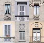 фасаду будинків в мілані — Fotografia Stock