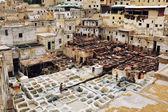 Leder gerbereien in fes, marokko — Stockfoto