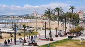 Aerial view of Sitges beach, Costa Dorada, Spain — Stock Photo