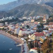 Aerial view of Rafailovici, Montenegro — Stock Photo