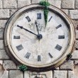 Ancient clock in Kotor, Montenegro — Stock Photo